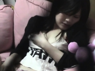 Japanese babe toying