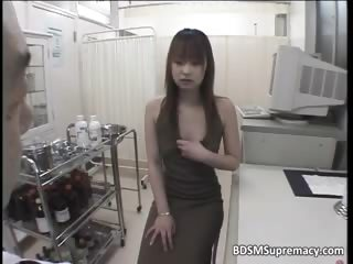 BDSM body cross-examination by kinky water down who play part2