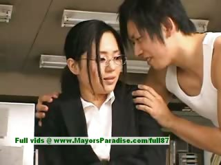 Sora Aoi innocent naughty asian secretary enjoys getting fucked at break seniority