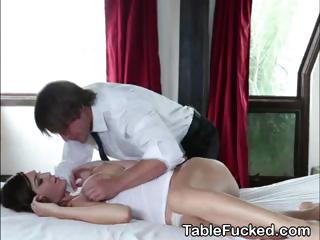 Hot Obscurity Amateur Eaten Out On Massage Table