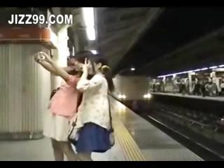 cute copy teens invaded in train room 02