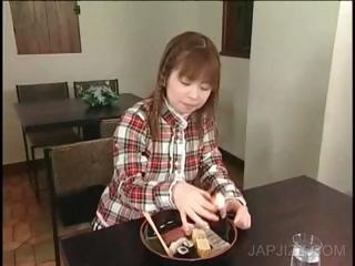 Japanese teenie tasting cum