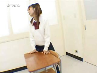 Schoolgirl Asian Humping The Desks