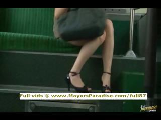 Rio innocent asian girl is fucked first of all the bus