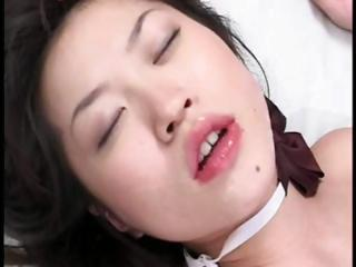Wakana Itsuki plays with yourself increased by then sucks unaffected by his cock